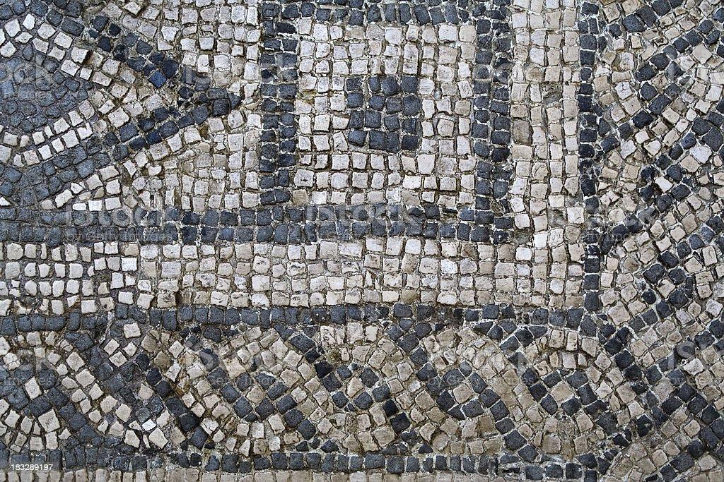 Antica Mosaico Bianco E Nero Fotografie Stock E Altre