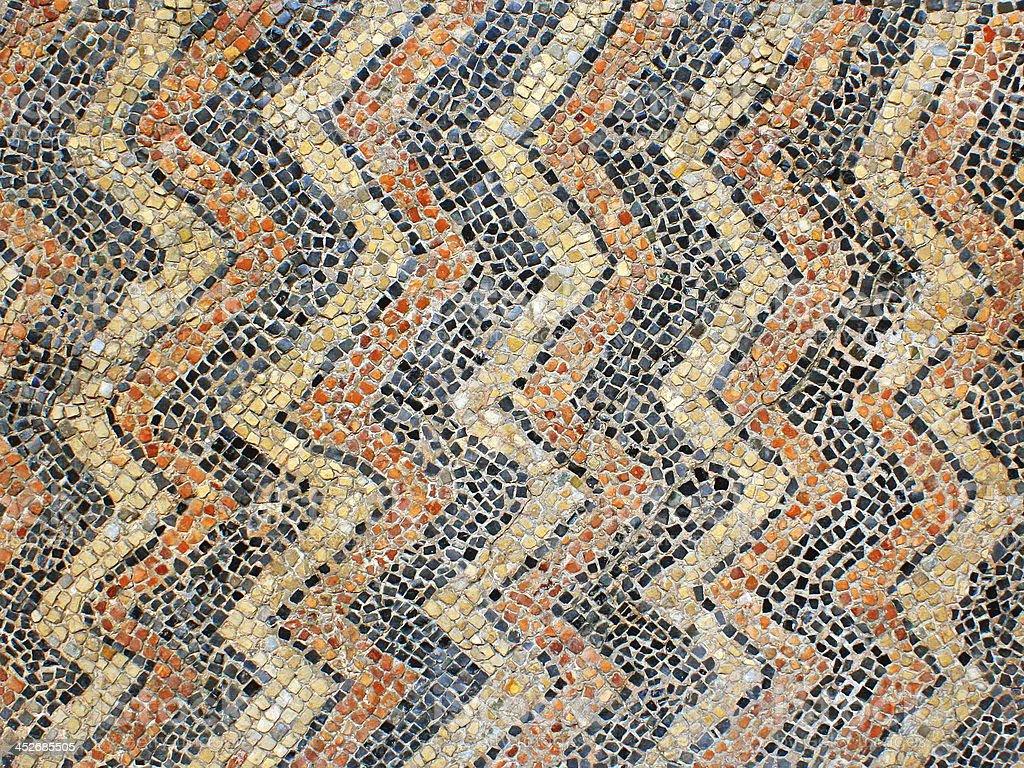 Ancient mosaic in Ravenna, Italy stock photo