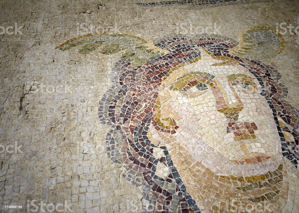 Ancient Mosaic of Tethys stock photo