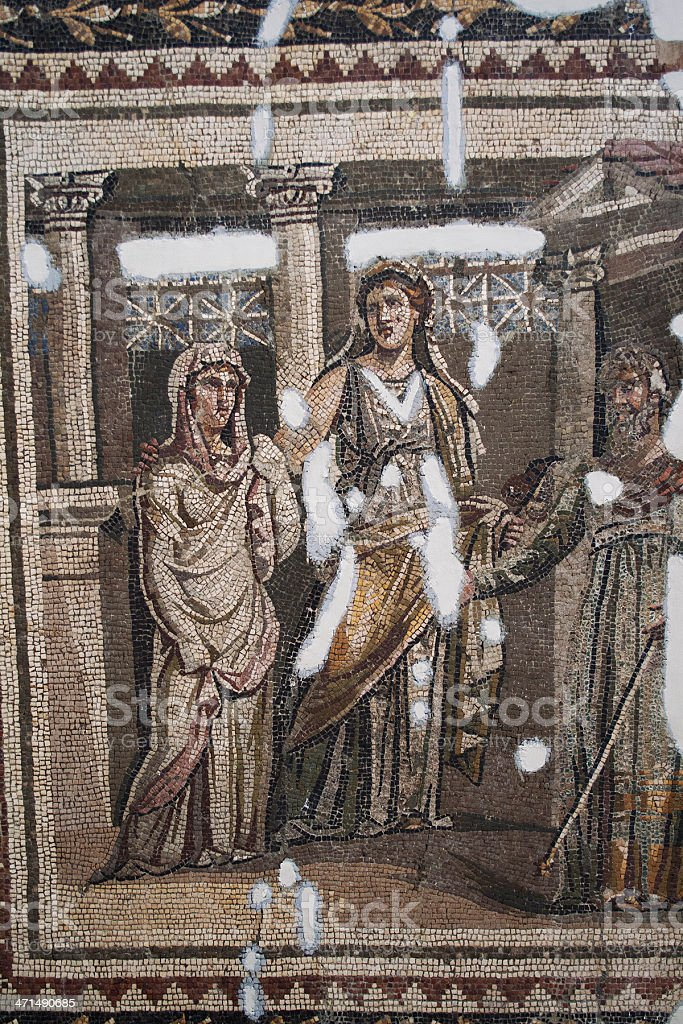 Ancient Mosaic royalty-free stock photo