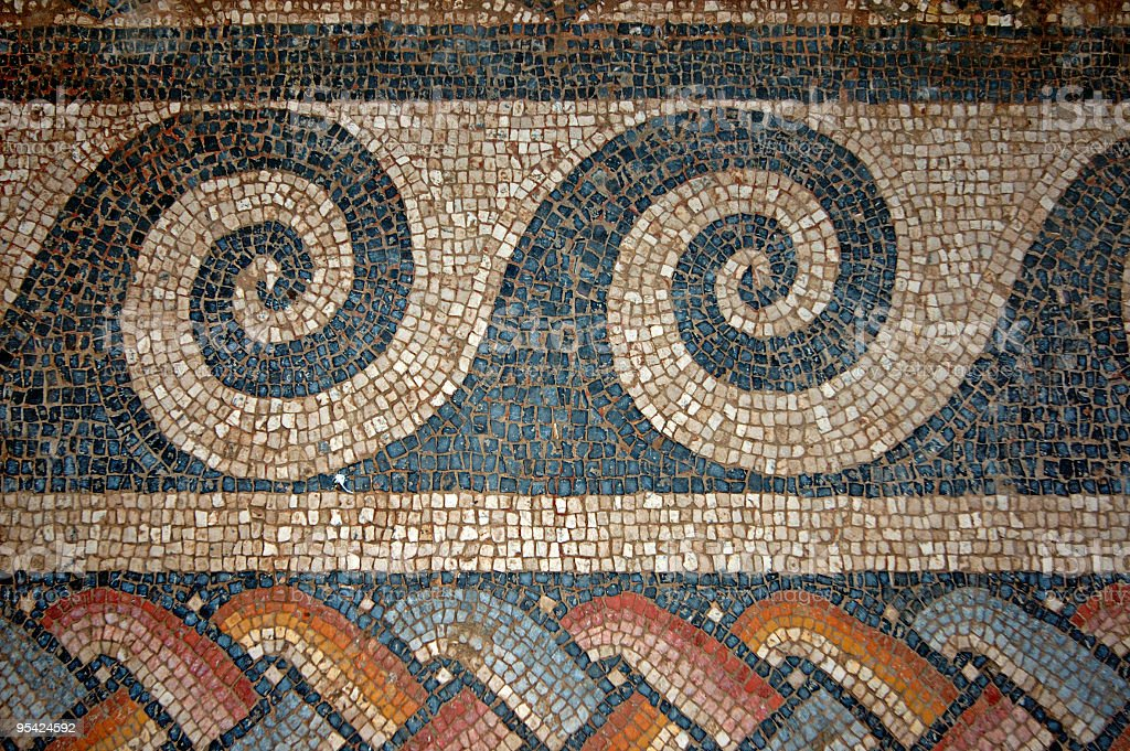 Ancient Mosaic stock photo