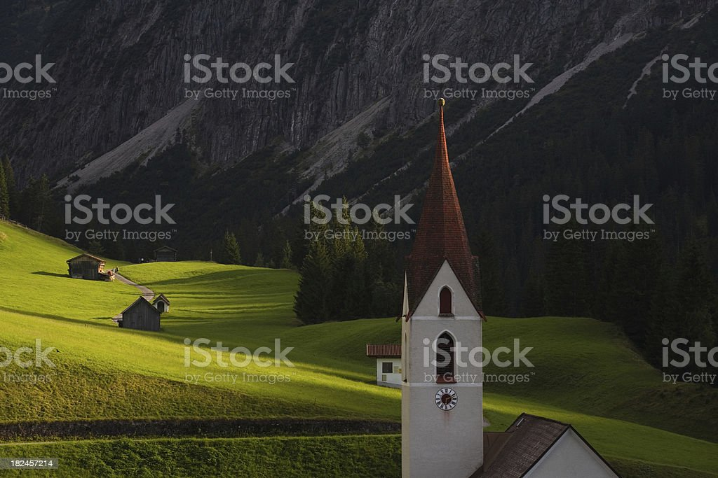 ancient mountain village in tirol austria royalty-free stock photo