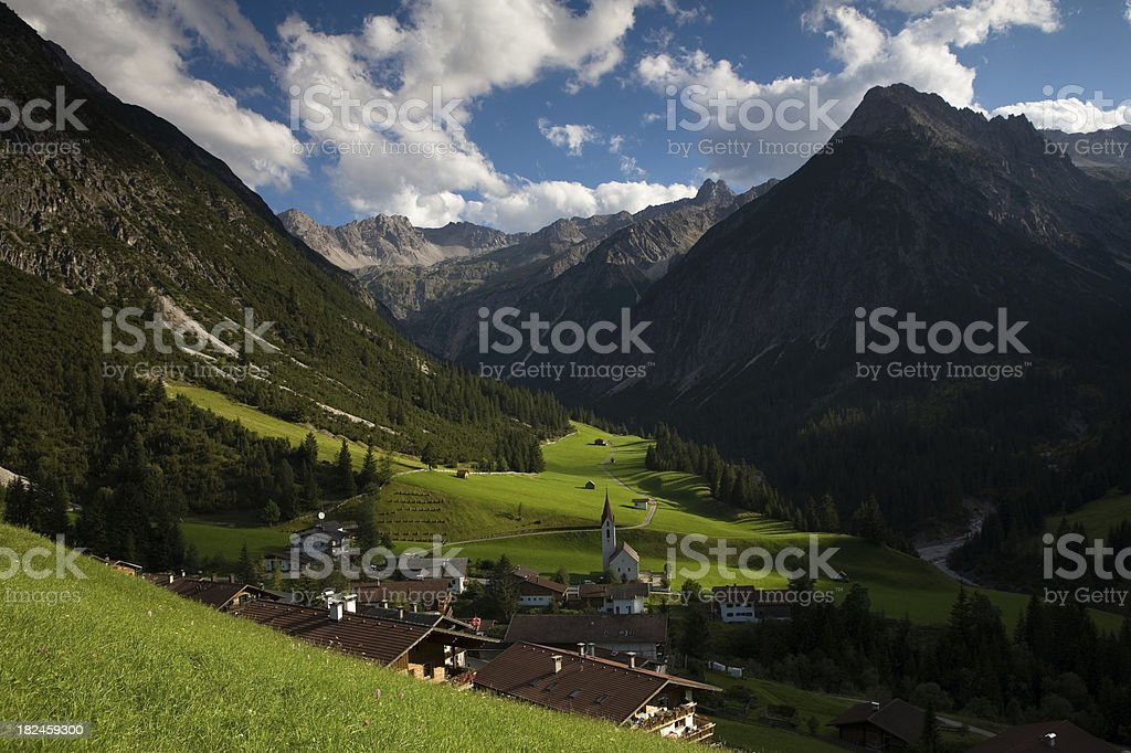 ancient mountain village in tirol austria royalty-free stock photo