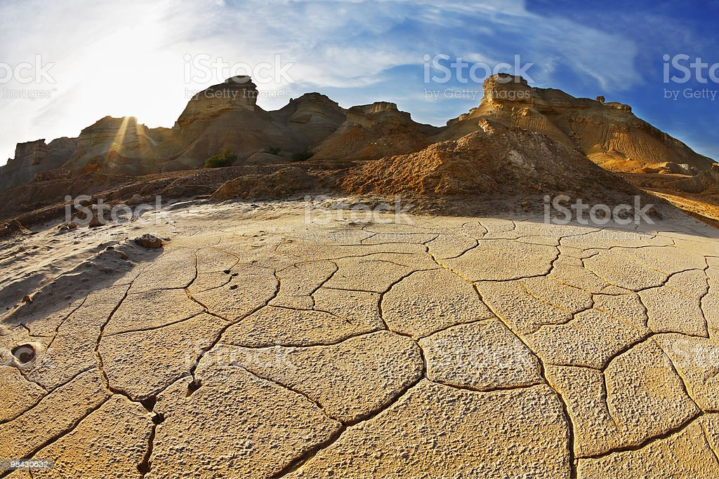 Ancient mountains and the ground royalty-free stock photo