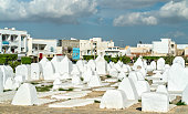 Ancient Muslim cemetery at the walls of Medina of Kairouan - Tunisia, North Africa