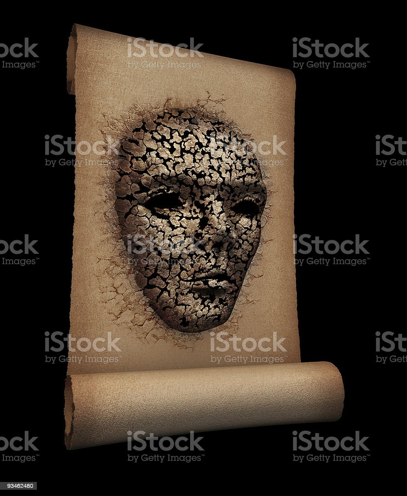 Ancient mystic scroll royalty-free stock photo