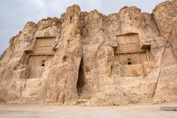 Ancient necropolis of Naqsh-e Rostam, Iran stock photo