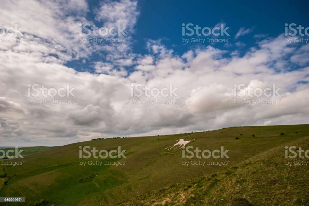 Ancient Neolithic Avebury Standing Stones England royalty-free stock photo
