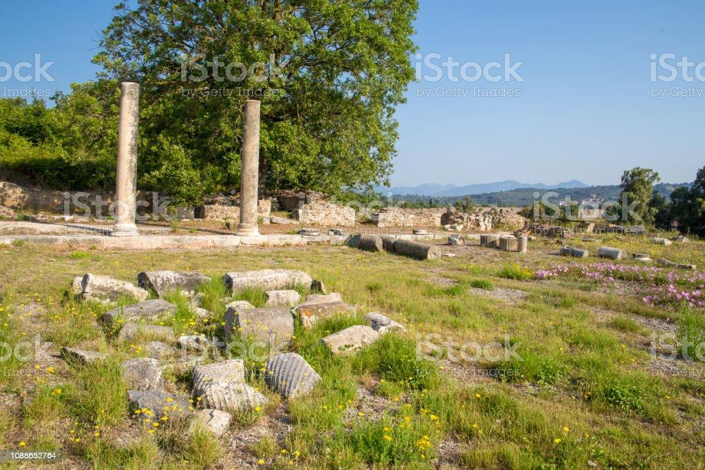 ancient Nikopolis in preveza greece paleochristian church basilica in...