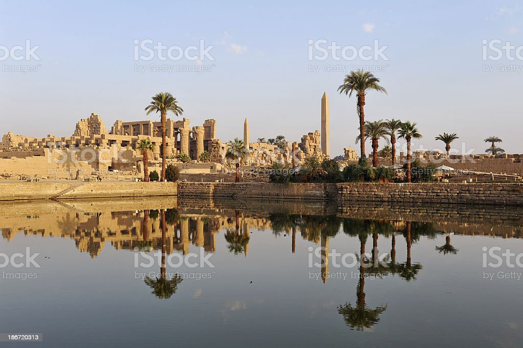 Ancient Nile temples stock photo