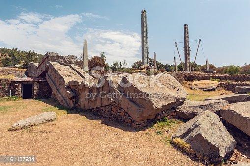 istock Ancient obelisks in city Aksum, Ethiopia 1161137934