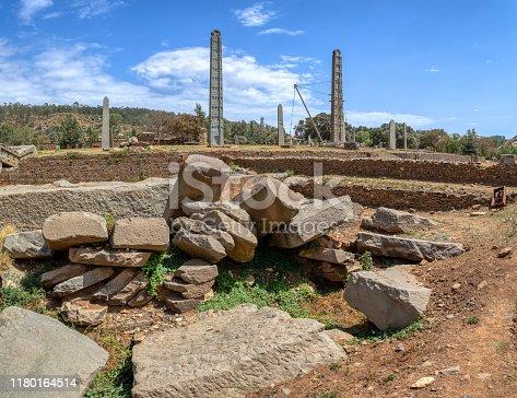 istock Ancient obelisks in city Aksum, Ethiopia 1180164514
