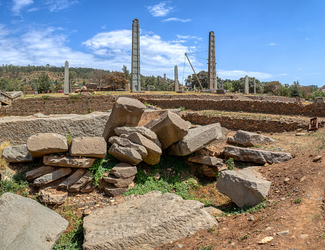 istock Ancient obelisks in city Aksum, Ethiopia 1180164514