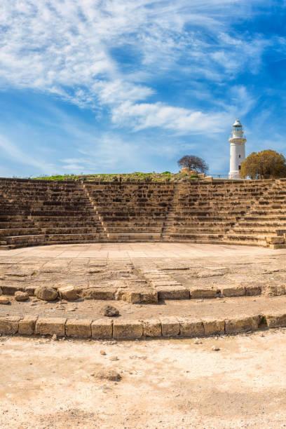 Altes Odeon-Amphitheater im Archäologischen Park von Paphos, Zypern – Foto