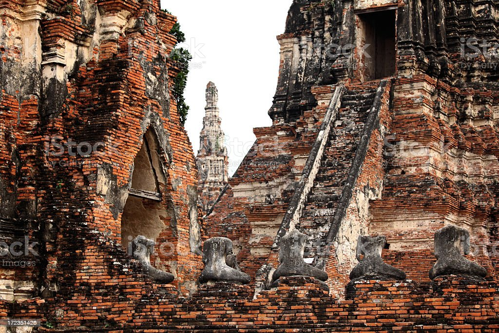 Ancient of Ayutthaya royalty-free stock photo