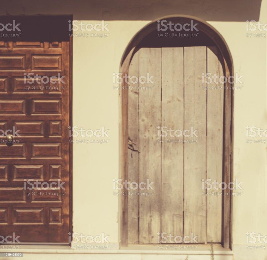 Ancient old  door stock photo