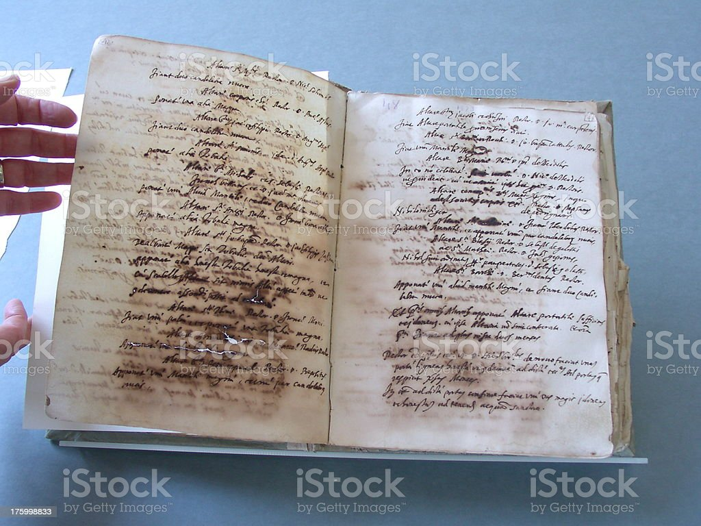 Ancient old scroll royalty-free stock photo