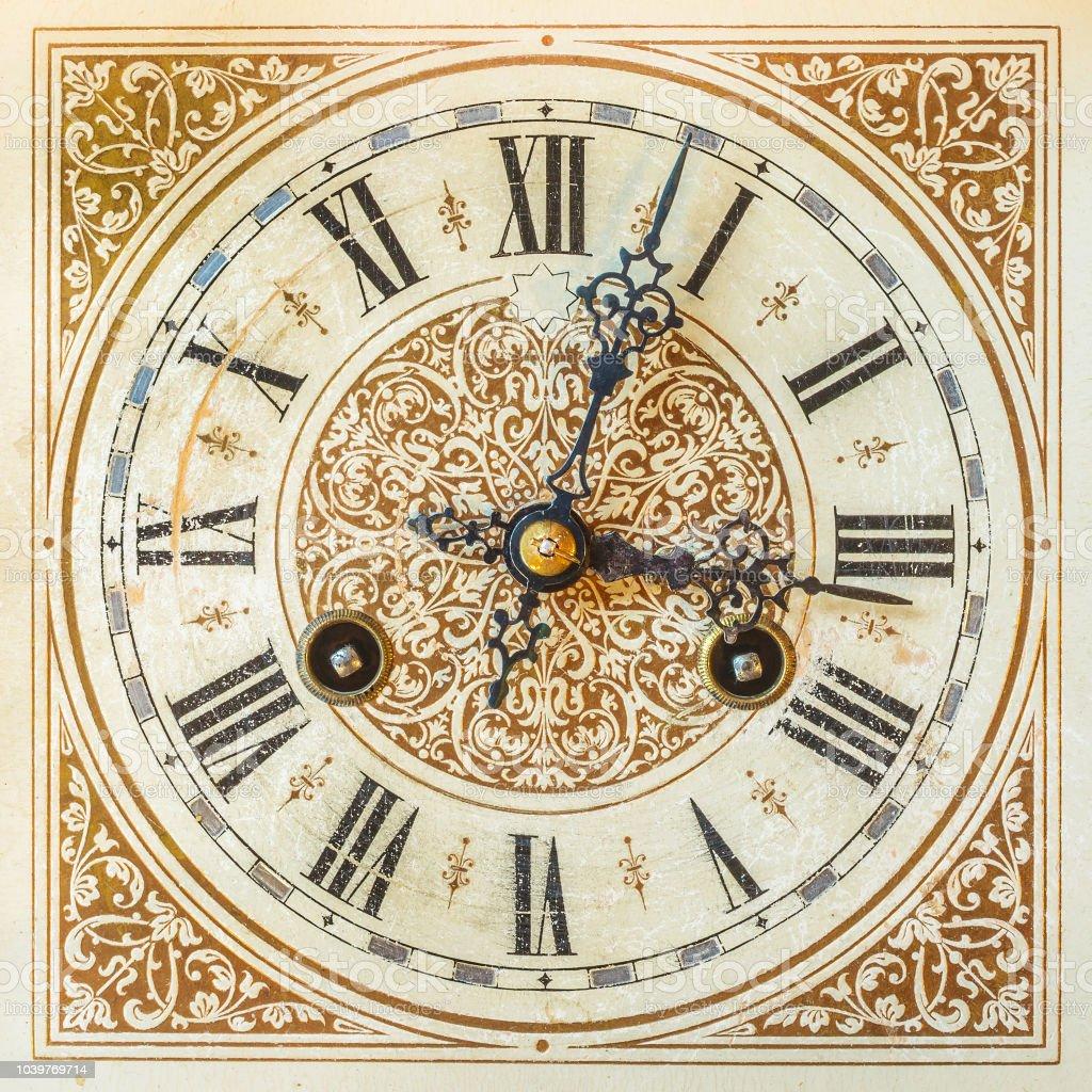 Ancient ornamental clock stock photo