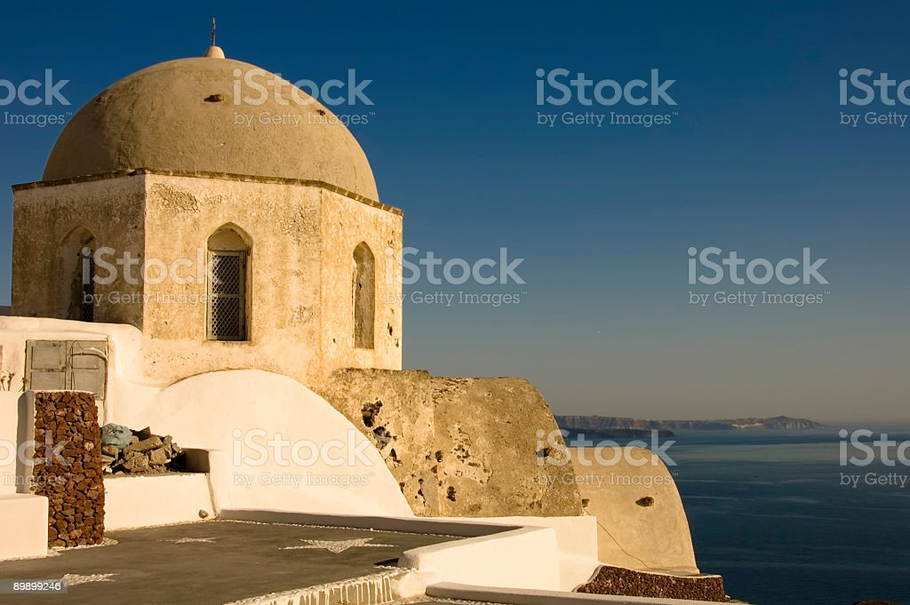 Ancient Orthodox church stock photo