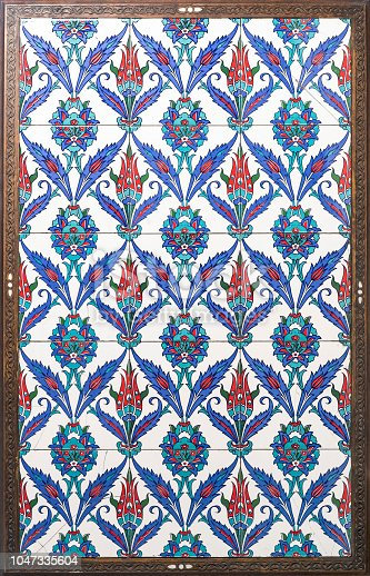 1141967162 istock photo Ancient Ottoman patterned tile framed 1047335604