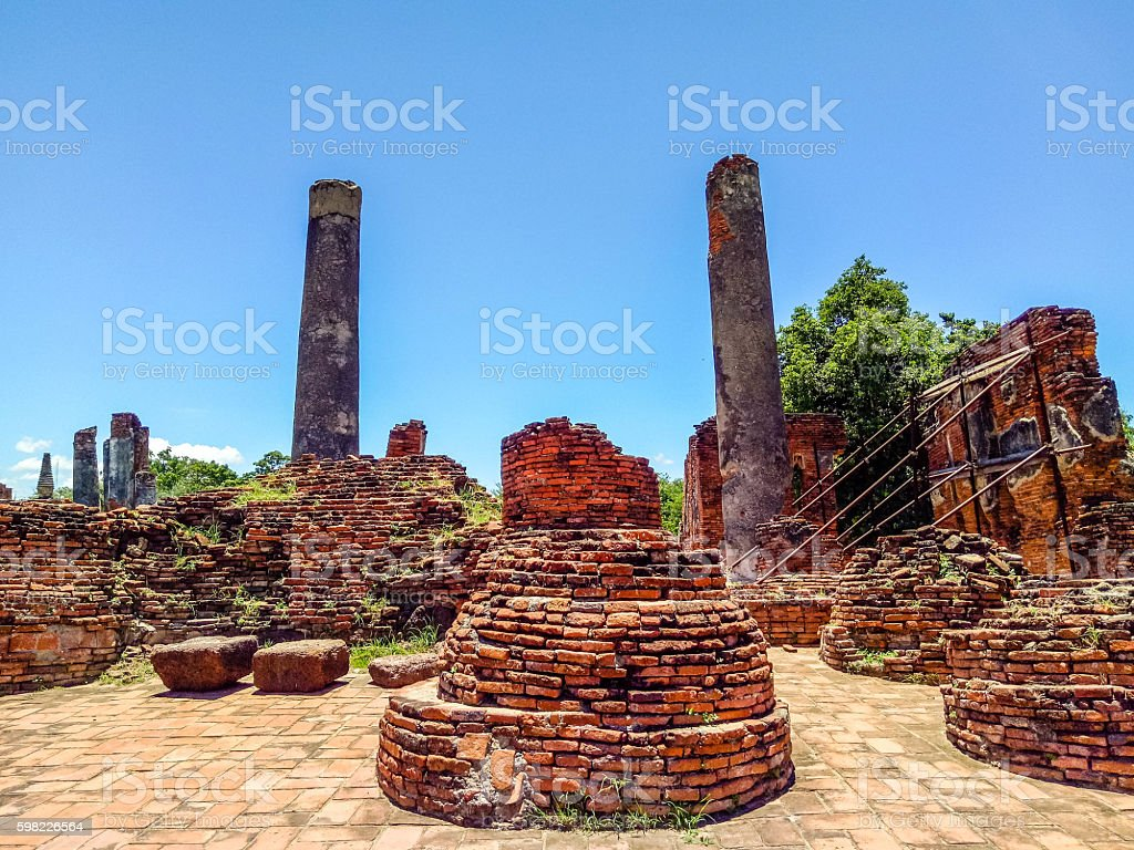 Ancient pagoda history of Wat Prasrisanpet foto royalty-free
