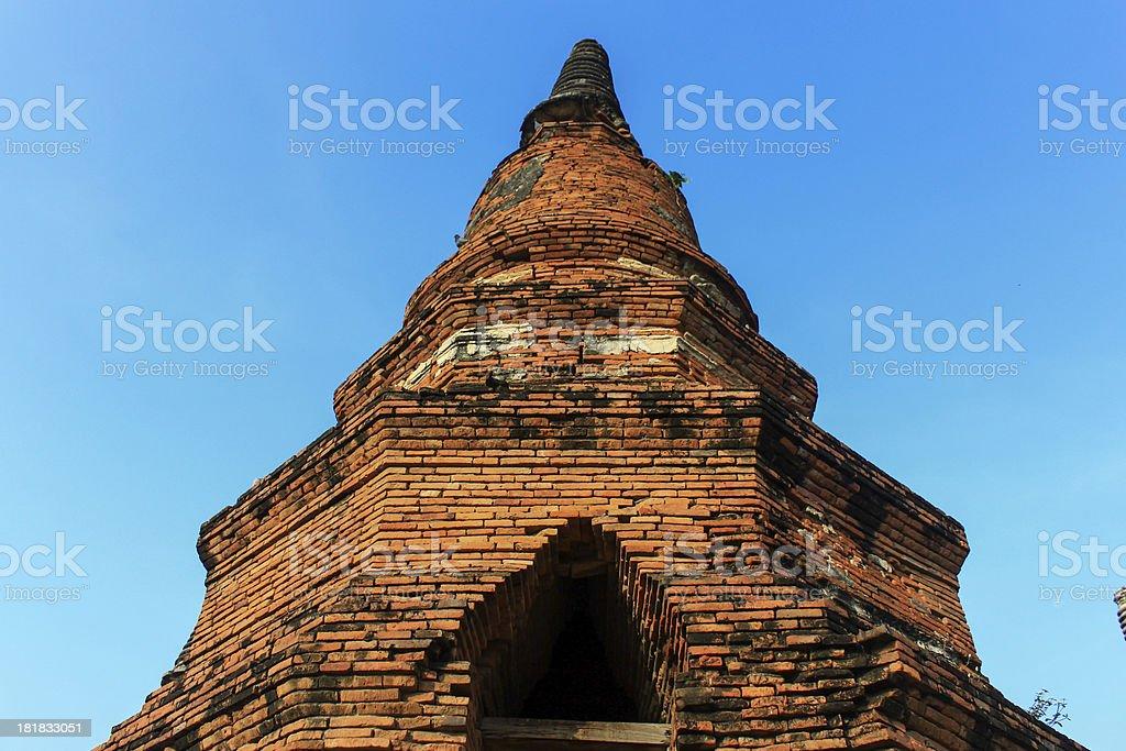 Ancient Pagoda  in Ayutthaya,Thailand royalty-free stock photo