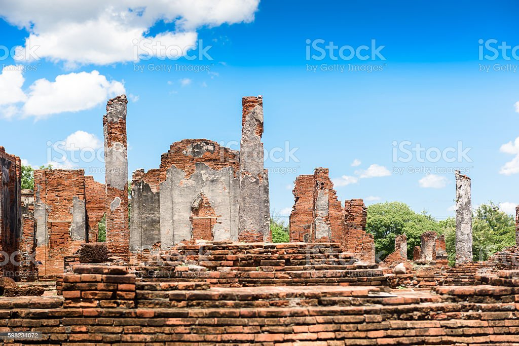 Ancient Pagoda in Wat Phrasisanpetch (Phra Si Sanphet). Ayutthay foto royalty-free