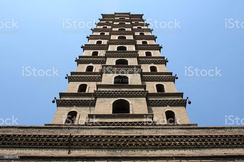 Ancient pagoda stock photo