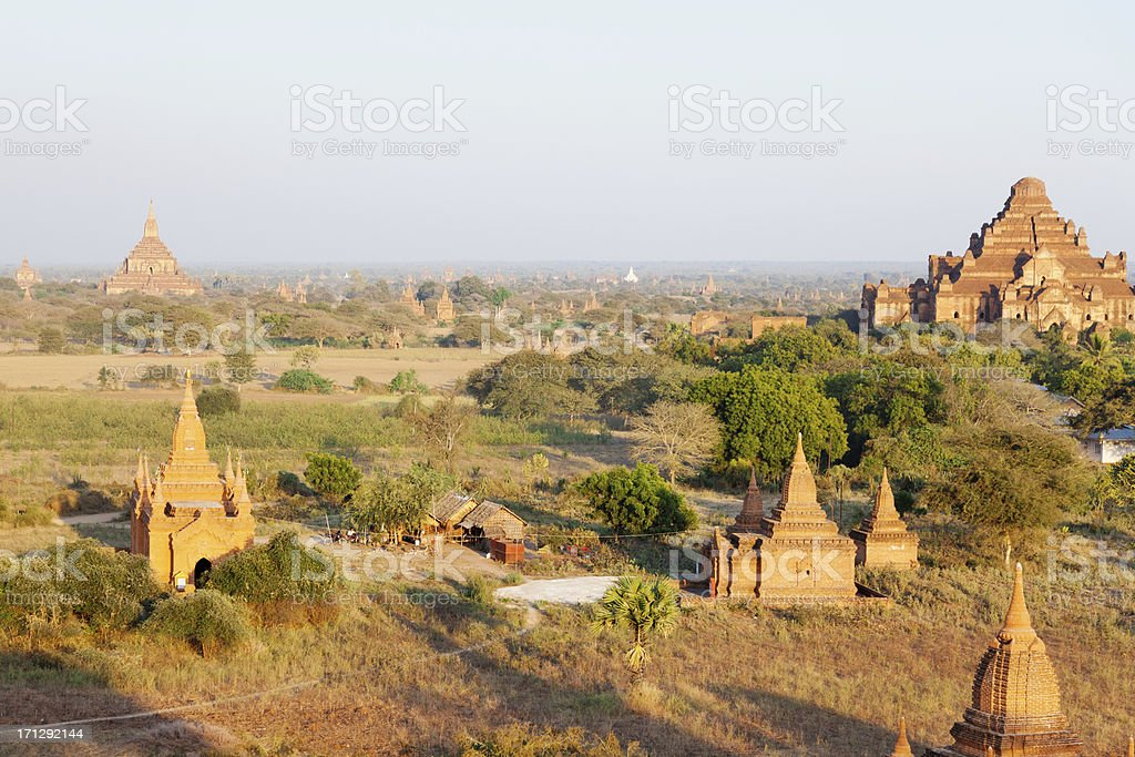 Ancient pagodas in Bagan, Myanmar royalty-free stock photo