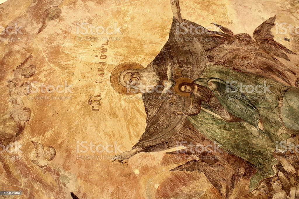 Ancient painting royalty-free stock photo