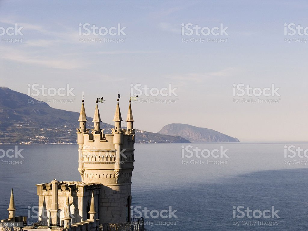 Ancient palace lastochkino gnezdo royalty-free stock photo
