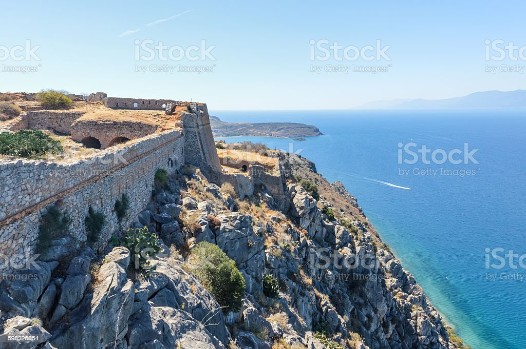 Ancient Palamidi fortress in Nafplio, Greece foto royalty-free