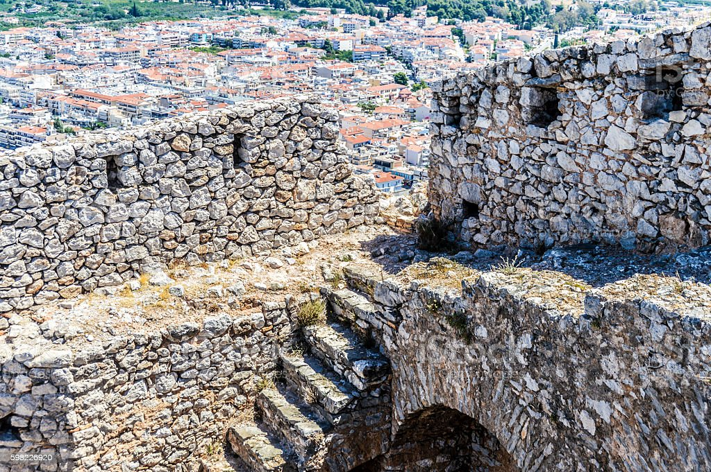 Ancient Palamidi fortress in Nafplio, Greece foto royalty-free
