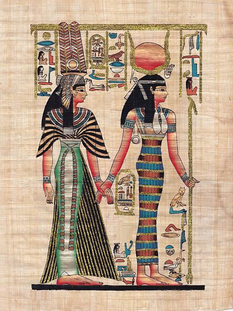 Ancient paper papyrus stock photo