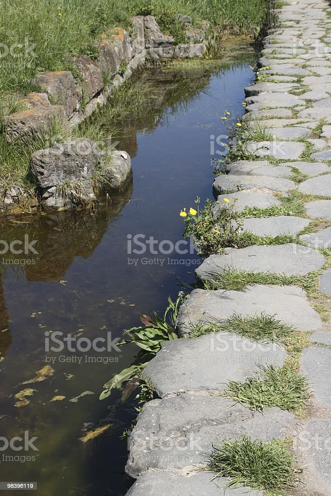 Ancient pathway royalty-free stock photo