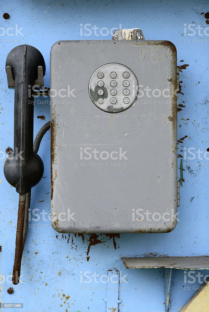 ancient  pay phone royalty-free stock photo