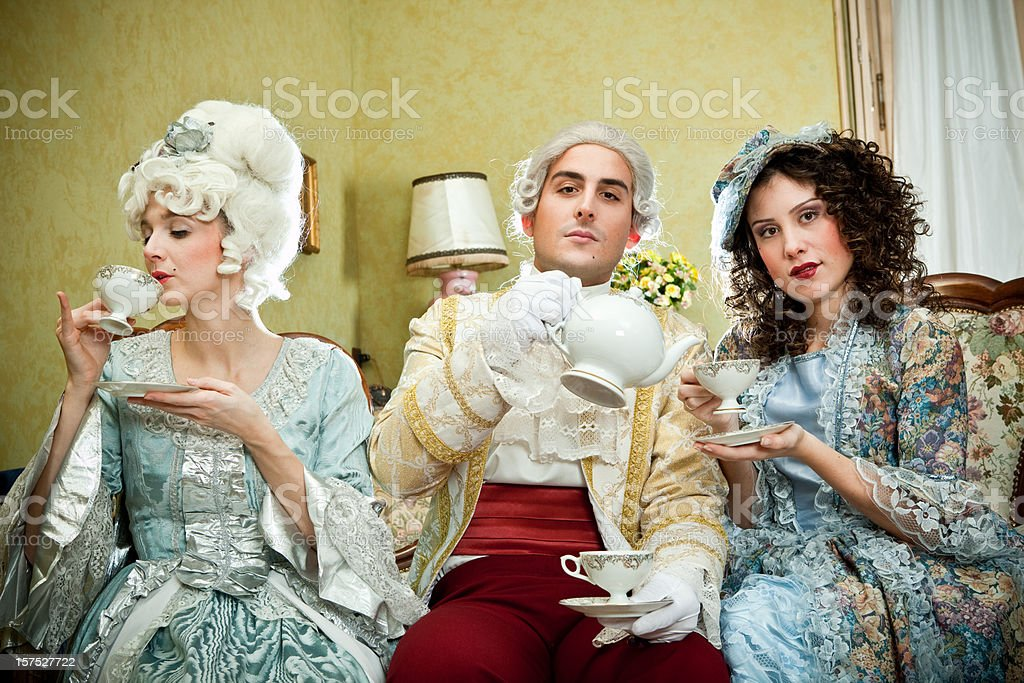 ancient people in period dress royalty-free stock photo