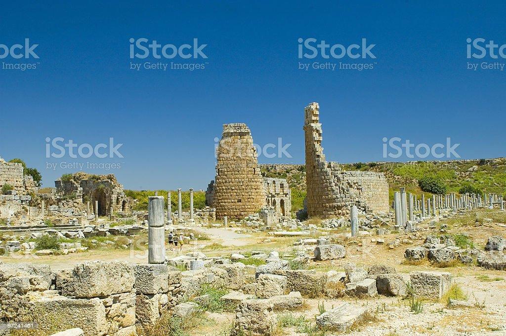 Ancient Perge stock photo