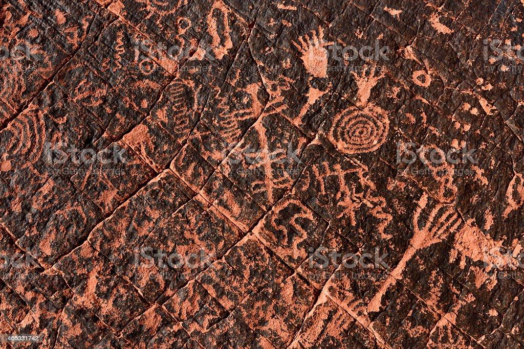 Ancient Petroglyph Background stock photo
