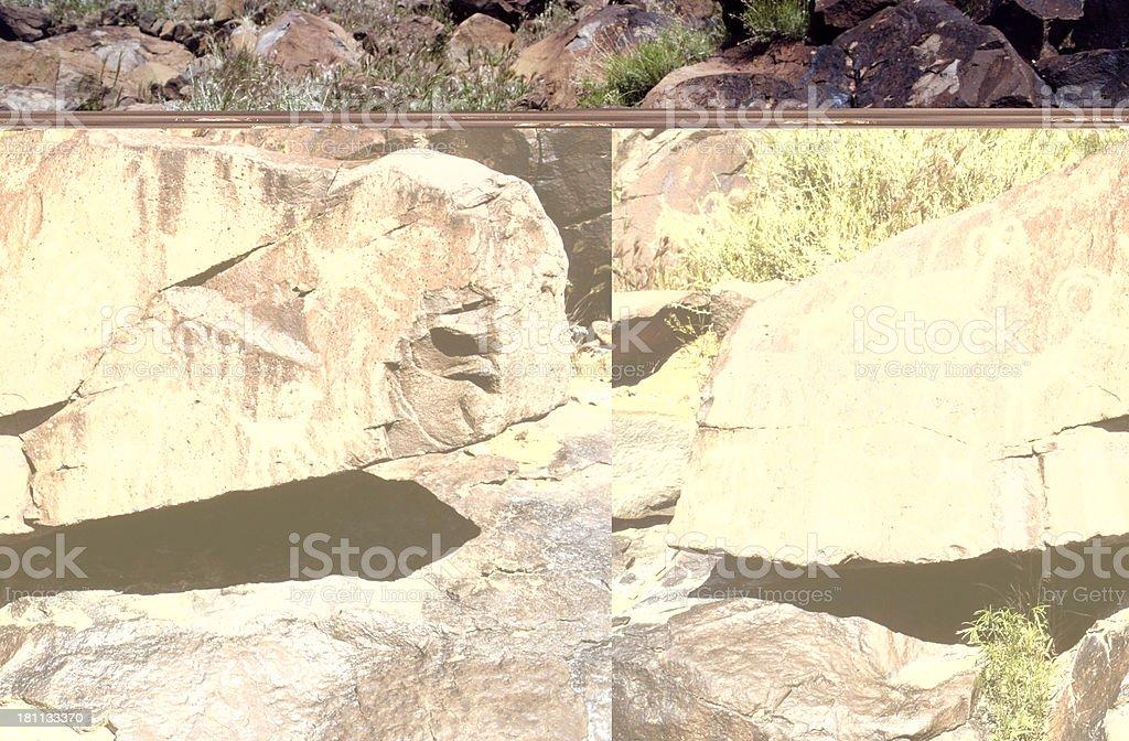 Ancient Petroglyphs royalty-free stock photo