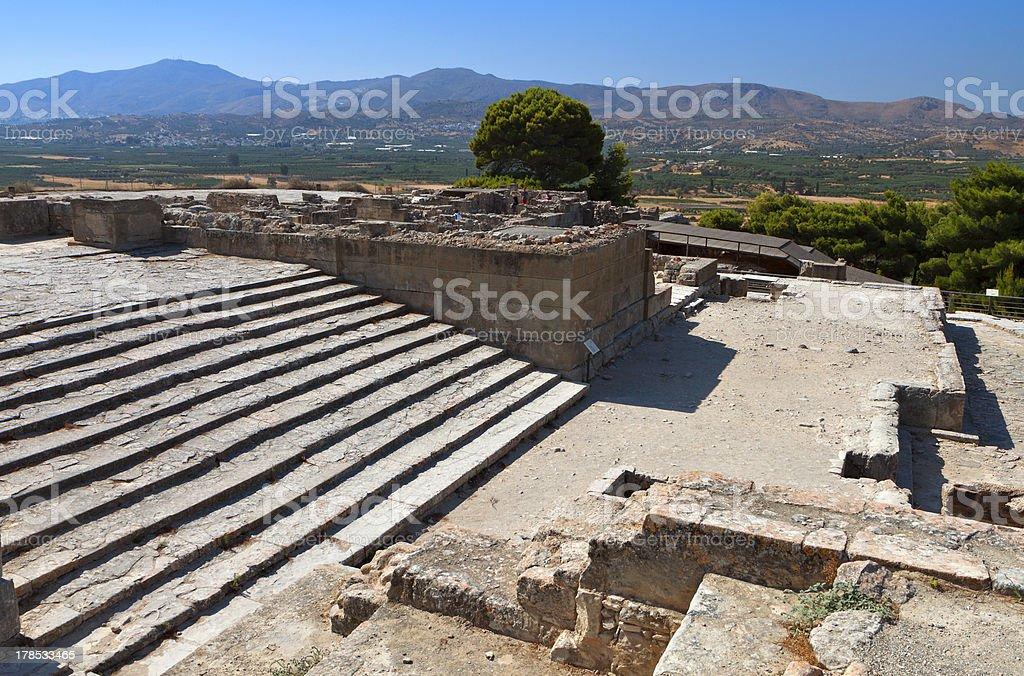Ancient Phaestos at Crete island in Greece royalty-free stock photo