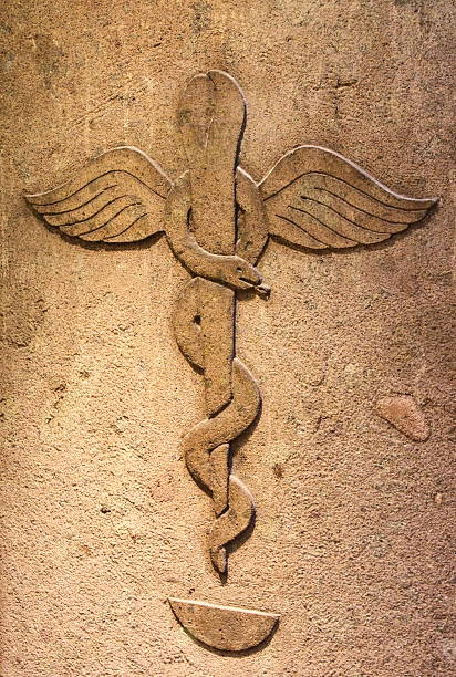 ancient pharmacy - caduceus stock pictures, royalty-free photos & images