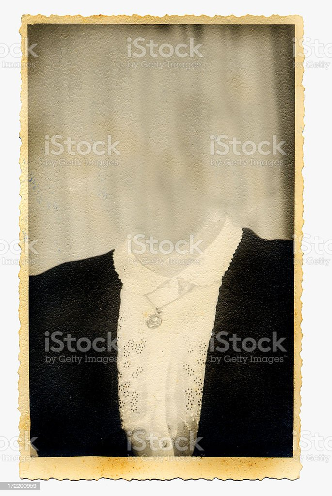 Ancient photo frame two royalty-free stock photo
