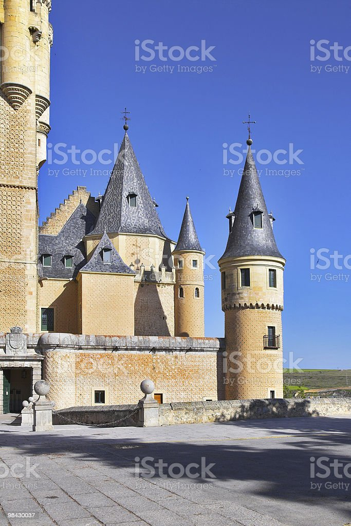 Ancient picturesque palace of the Spanish king royalty-free stock photo