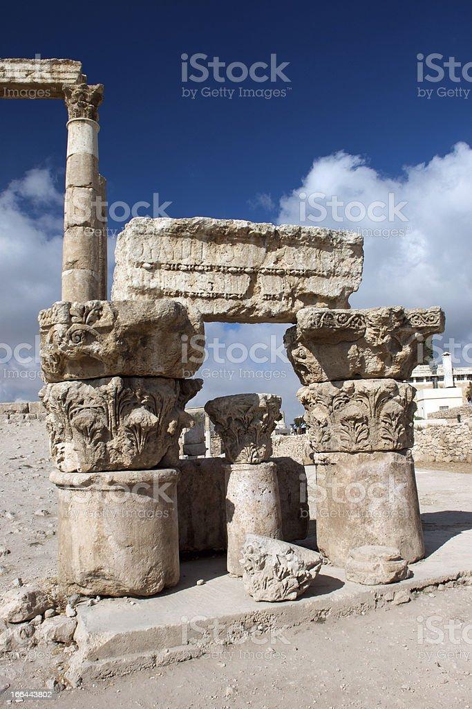 ancient Pillars of Hercules royalty-free stock photo