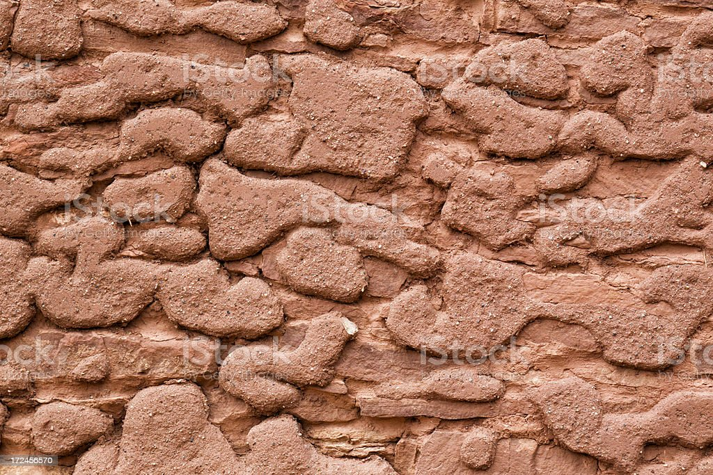 Ancient Plastered Wall royalty-free stock photo