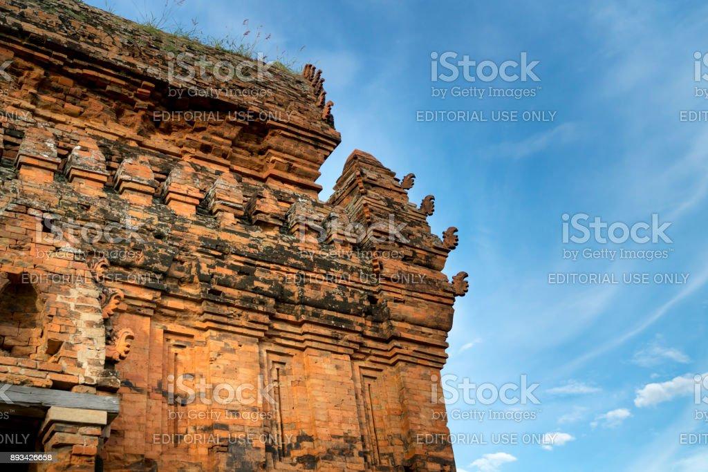 ancient Po Klong Garai temple stock photo