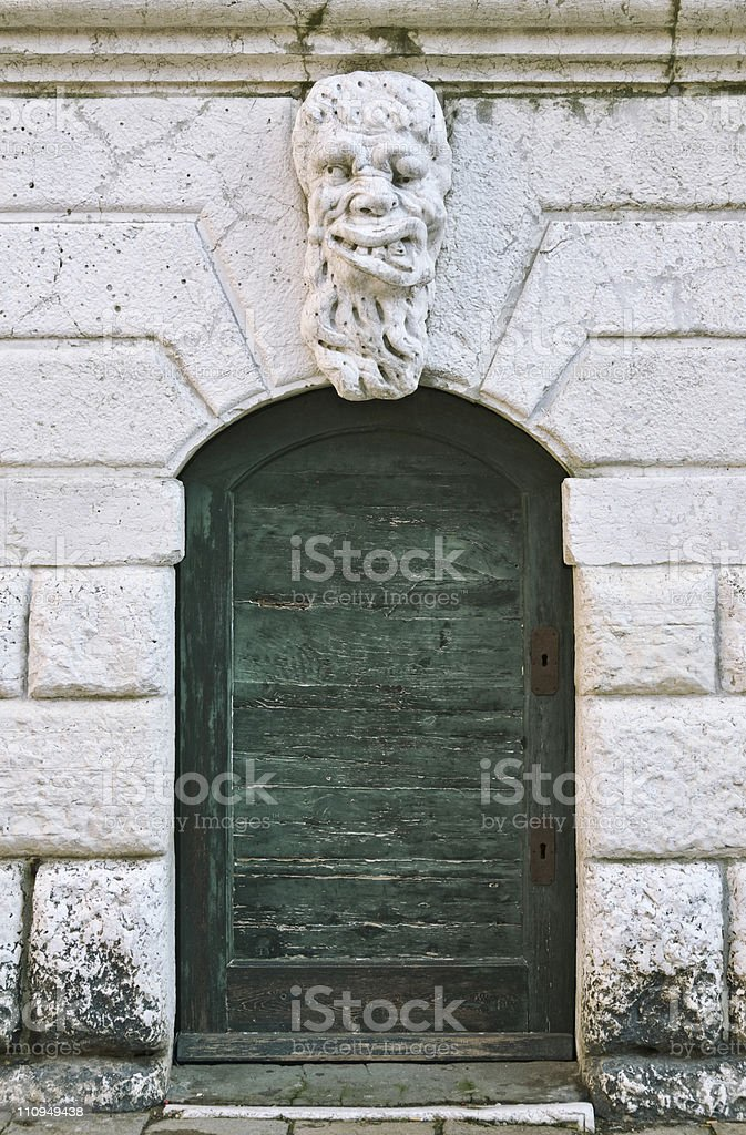 Ancient portal stock photo