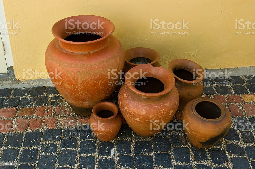 Ancient pots royalty-free stock photo