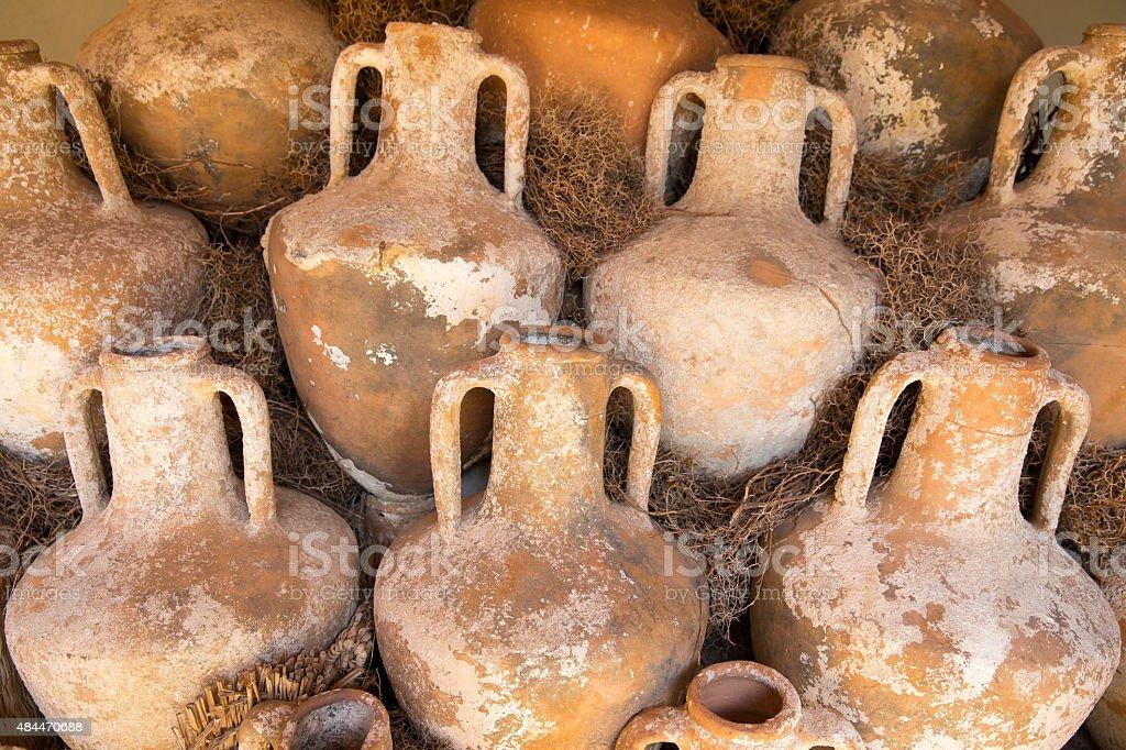 Les anciennes ruines de la poterie de vins Château de Bodrum amphora - Photo